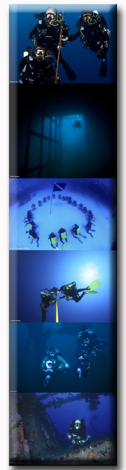 Technical Diving Scenes