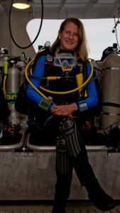Stephanie Watowich in Truk Lagoon