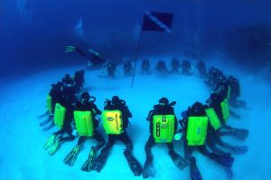 Rebreather Divers in Grand Cayman During the First Innerspace CCR Event (Eric is in the Photograph)