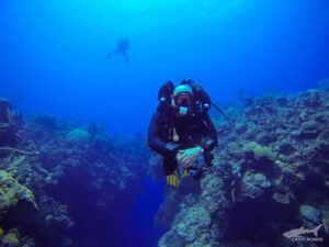 Eric On a Rebreather Dive in Grand Cayman